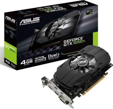ASUS GeForce GTX 1050Ti 4GB PHOENIX Fan Edition DVI D HDMI DP 1 4 Gaming  Graphics Card PH GTX1050Ti