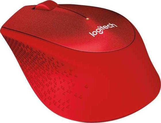 Logitech M330 Silent Plus Wireless Mouse USB for Windows Mac Chrome OS  Linux Red 910 004911
