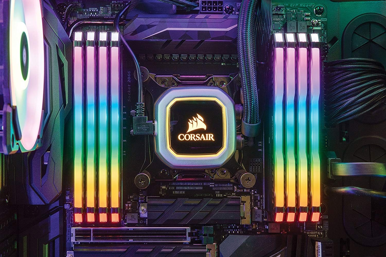 CORSAIR VENGEANCE RGB PRO 64GB 8x8GB DDR4 3600MHz C18 LED Desktop Memory  Black CMW64GX4M8X3600
