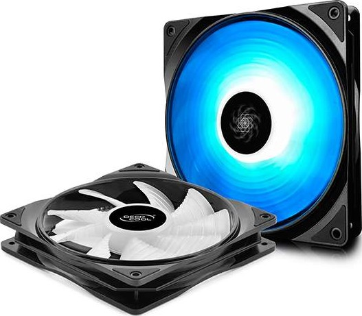 DEEPCOOL RF140 2in1, 2X140mm RGB PWM Fans with Fan Hub and Cable Exten