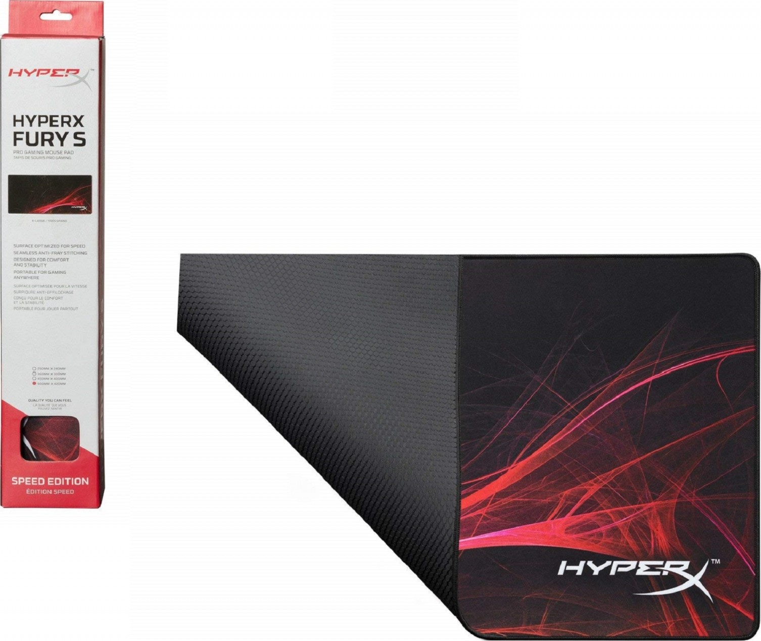 Pro Gaming Mouse Pad X-Large Stitched Anti-Fray Edges HyperX FURY S