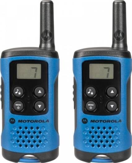 Motorola Walkie Talkie Radio Twin Pack, LCD display, Analogue, AAA size batteries, Blue | TLKR-T41-B