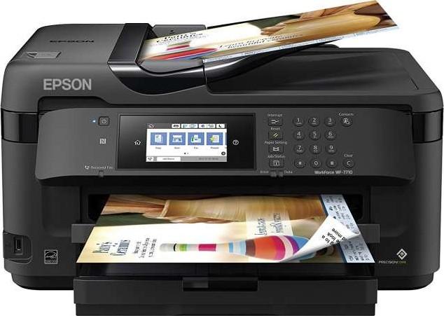 Epson WorkForce WF-7710DWF Wireless Wide-format Color Inkjet Printer With  Copy, Scan, Fax, Wi-Fi Direct | WF-7710DWF