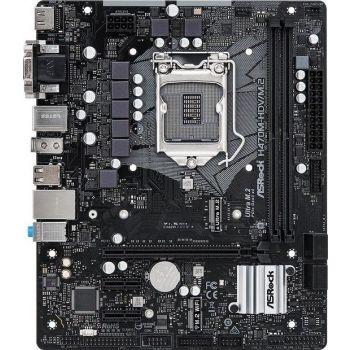 AsRock H470M-HDV/M.2 - Chipset Intel H470, Max. Memory 64GB DDR4, 2 x DIMM Slots, PCI Express 3.0, 1 x D-Sub Port, 1 x DVI-D Port, 1 x HDMI Port, M.2 Micro ATX Mainboard   90-MXBG80-A0UAYZ