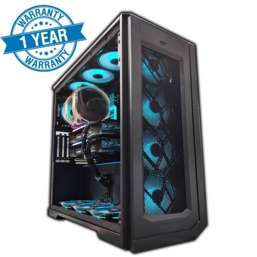 Ultimate Workstation ( AMD Threadripper 3990x 64Cores, Dual RTX 3090 OC 48GB Total,  256GB RAM G.skill Trident Z, 2TB MP600 Gen4 SSD + 4TB HDD 1500W Titanium PSU, 10G LAN + Wifi 6 , 12x Fan )