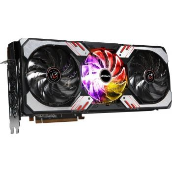 ASRock Radeon RX 6900 XT Phantom Gaming D 16G OC - AMD Radeon RX 6900 XT, 16GB GDDR6, PCIe 4.0, 256bit,  1x HDMI 2.1, 3x DisplayPort 1.4a Gaming Graphics Card   90-GA2DZZ-00UANF