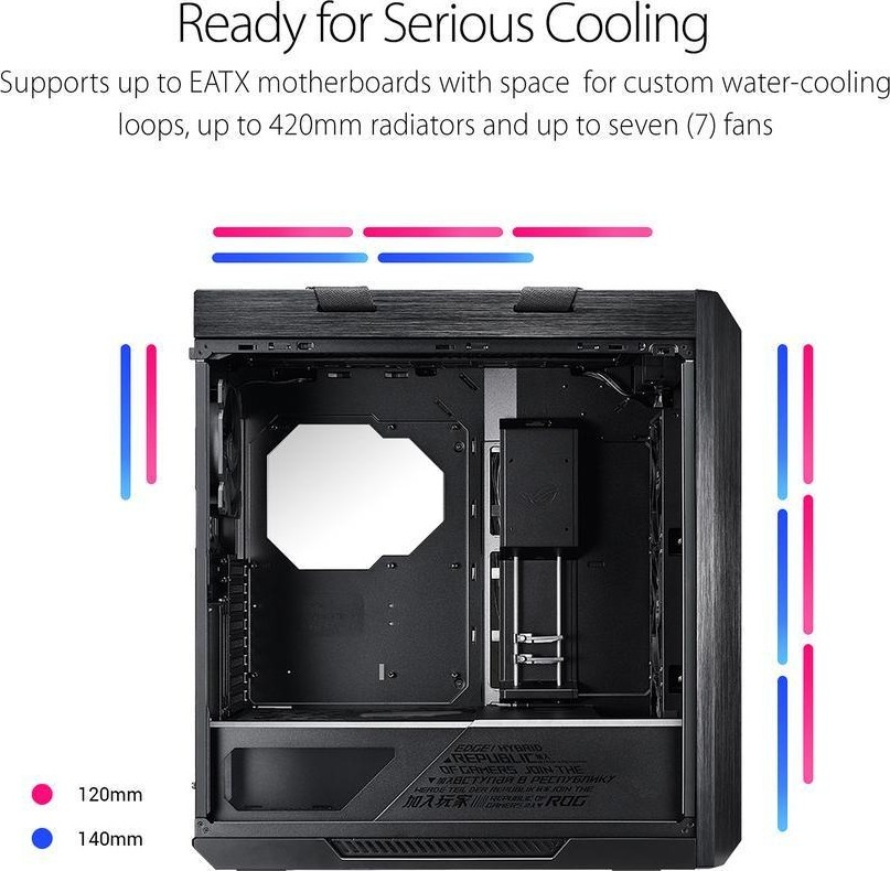 ASUS ROG Strix Helios GX601 RGB Mid Tower Computer Case up to EATX  Motherboards with USB 3 1 Front P