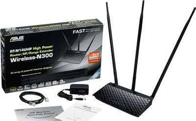 ASUS High Power Router / AP / Range Extender Wireless-N300 | RT-N14UHP