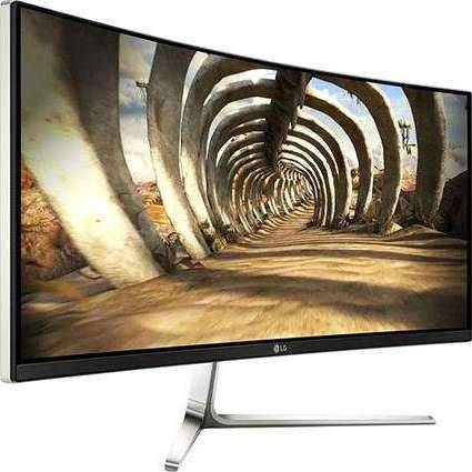 LG 34UC97 Black 34 Inch Ultrawide 21:9 WQHD IPS Curved Monitor LED Backlight LCD, 300 cd/m2 100,000:1, Dual HDMI / Dual ThunderBolt ports, 2xUSB 3.0 ports, Built-In Speakers