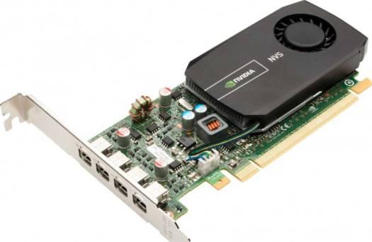 PNY NVS 510 VCNVS510VGA-PB 2GB 128-bit DDR3 PCI Express 3.0 x16 Workstation Video Card (Low-Profile), Built in 4x Mini DP, With 4x Display Port Converter, 4x VGA Converter | VCNVS510VGA-P