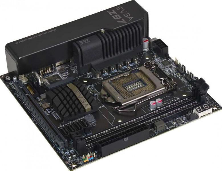 EVGA Z97 Stinger Core 3D LGA 1150 Mini ITX 2 DIMM Dual Channel DDR3  2666MHz+ Mini ITX Motherboard 11