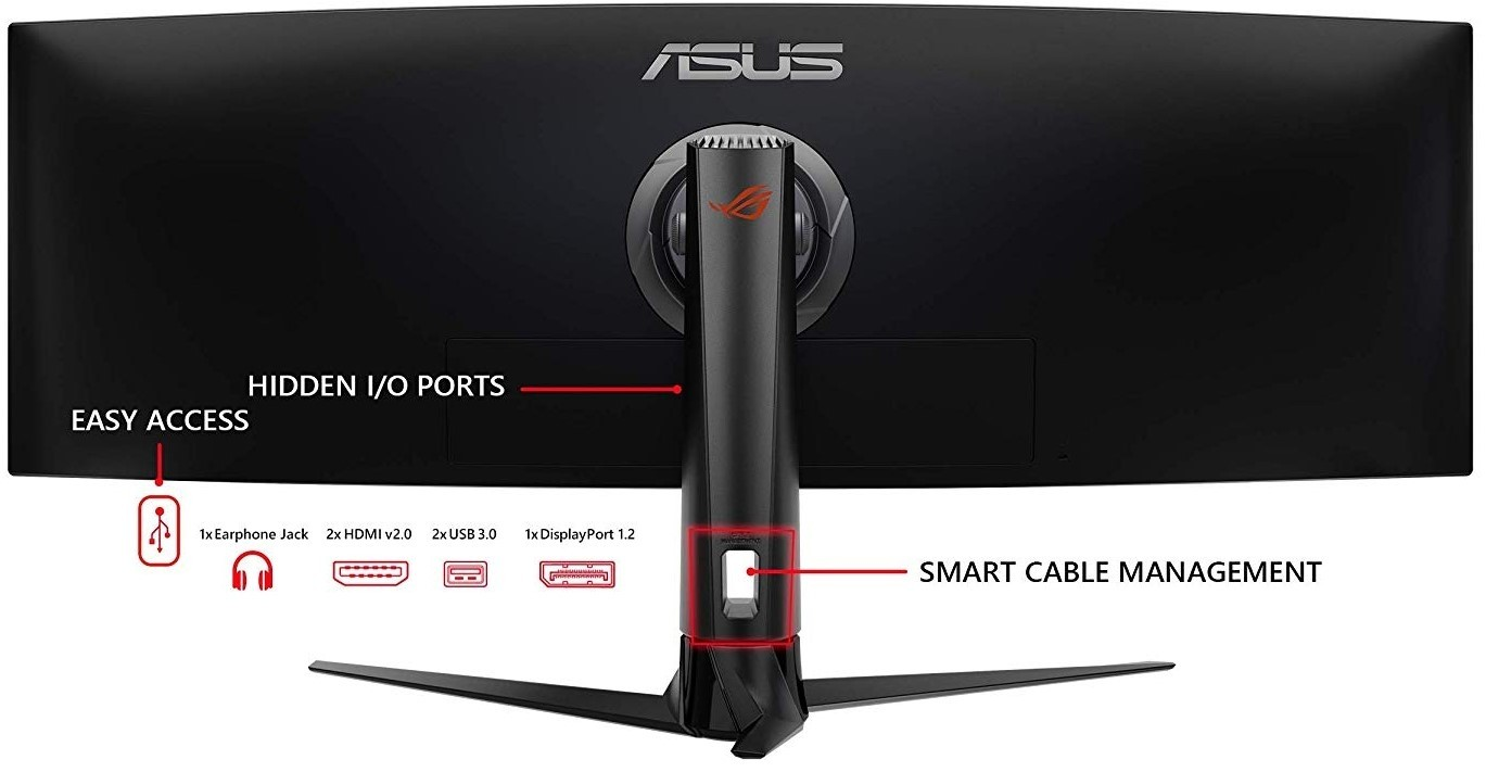 ASUS ROG Strix XG49VQ Super Ultra-Wide HDR Gaming Monitor, 49-inch ...