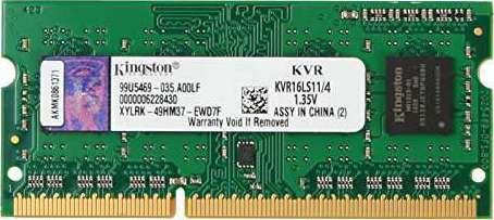 Kingston 4gb Ddr3l 1600 Mhz 1 35v Cl11 Sodimm Kvr16ls11 4 Buy