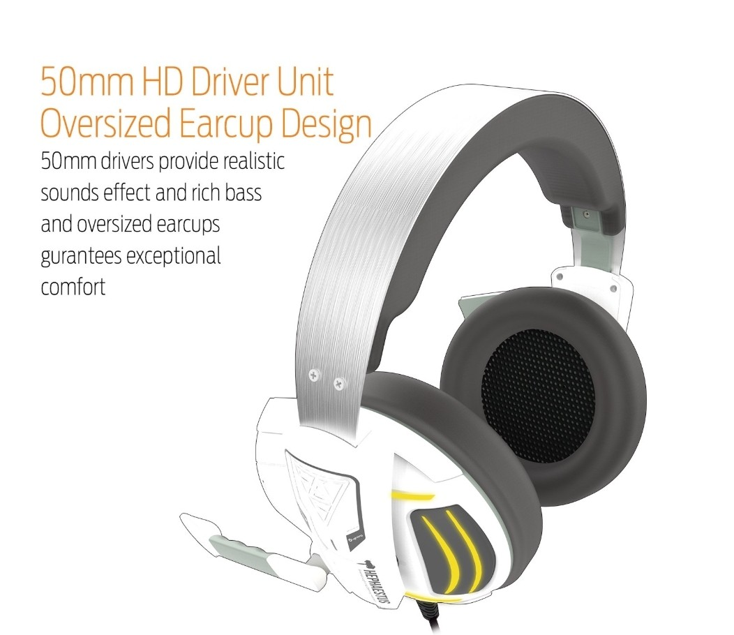 Gamdias Gaming Headset With Multi Color