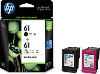 Tri-color CH562WN 2 Ink Cartridges HP 61