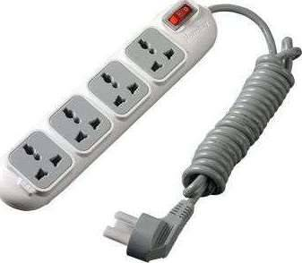 Huntkey 3M Cable, 4 Sockets, 3 pin UK Plug - PSPZD401HK