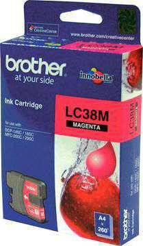 Brother LC38M Ink Cartridge (Magenta Color)