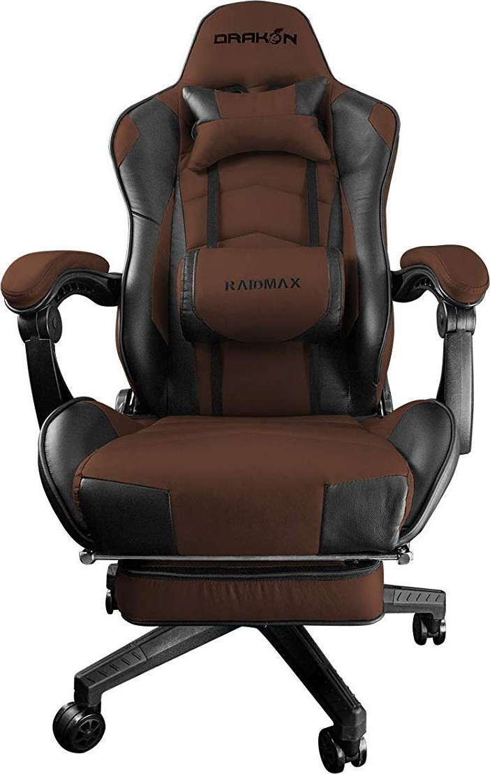 Awesome Raidmax Drakon Series Dk709 Optimal Design Adjustable And Removable Footrest Strong And Sturdy Gaming Chair Brown Dk709Br Frankydiablos Diy Chair Ideas Frankydiabloscom