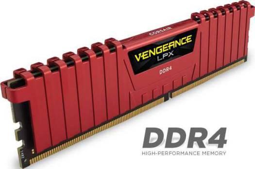 Corsair Vengeance LPX 16GB 2 x 8GB DDR4 DRAM 2666MHz C16 Memory Kit Red | CMK16GX4M2A2666C16R