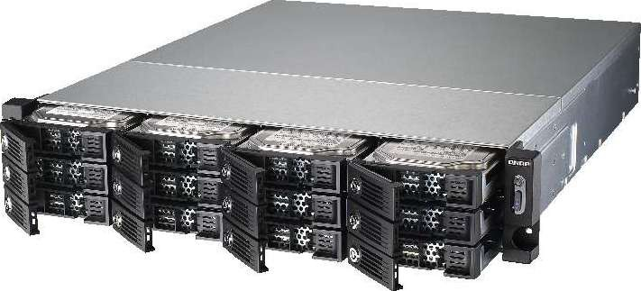 QNAP TS 1253U RP 12 Bay NAS, Intel Celeron 2 0 GHz Quad Core burst up to  2 41 GHz , 4GB TS 1253BU
