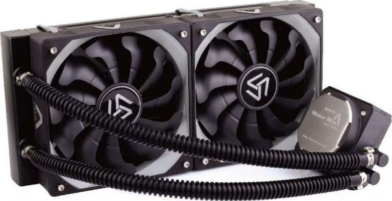 ALSEYE Liquid CPU Cooler with Dual 1800 RPM 120mm Fans, Aluminium Radiator,  Copper Cooling Block S