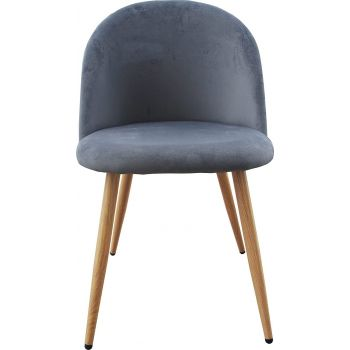 Mahmayi HYDC019 Dining Chairs, Modern Kitchen Chairs Velvet Upholstered Accent Leisure Chairs for Living Room, 1 Pcs, Free Assembly - Grey   HYDC019-GRY-P1
