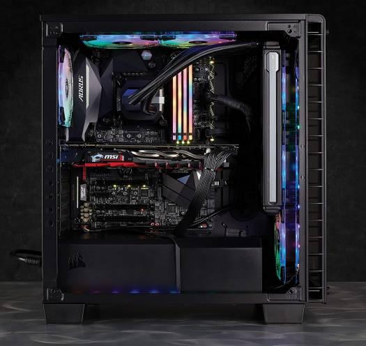 CORSAIR VENGEANCE RGB PRO 32GB (4x8GB) DDR4 2666MHz C16 LED Desktop Memory - Black | CMW32GX4M4A2666C16