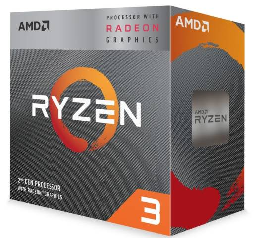 AMD Ryzen 3 3200G w/ RADEON™ RX VEGA 8 Graphics 3rd Gen, AM4, Zen+, Quad Core, 4 Thread, 3.6GHz, 4.0GHz Turbo, 4MB, 65W, CPU with Wraith Stealth Cooler | YD3200C5FHBOX