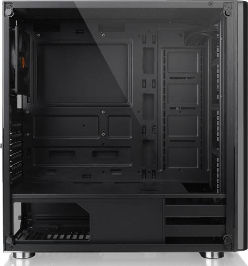 Thermaltake V200 Tempered Glass Edition Mid Tower Computer Case - Black | CA-1K8-00M1WN-00