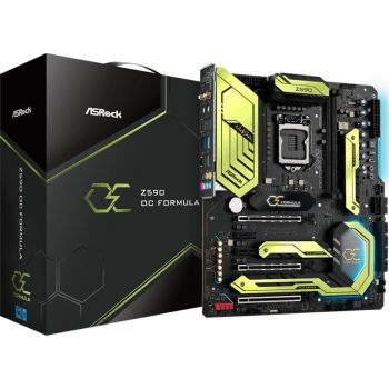 ASRock Z590 OC Formula Intel EATX Motherboard, Intel Z590 Chipset, Max. Memory 64GB, 2x DDR4 6000MHz (OC), Intel WiFi 6E, 2 x PCIe 4.0 x16   90-MXBFS0-A0UAYZ