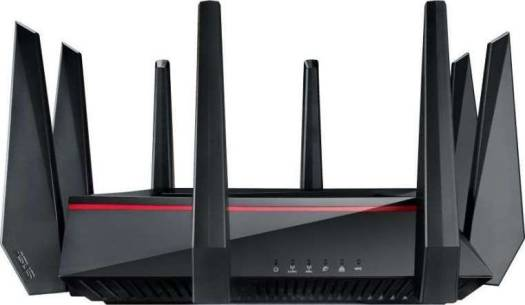 ASUS RT-AC5300 Tri-Band 4x4 AC5300 Wireless 4-port Gigabit Gaming Router With AiProtection Powered by Trend Micro (Exclusive Built-in Game Accelerator) | 90IG0201-BU9G00