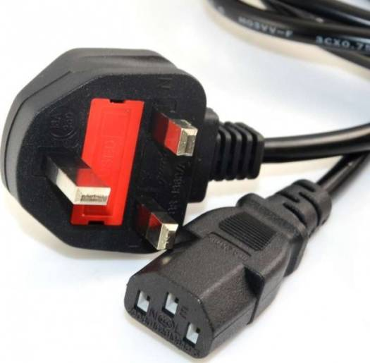 Power Cable for Monitor / PSU  with 3-prong UK plug