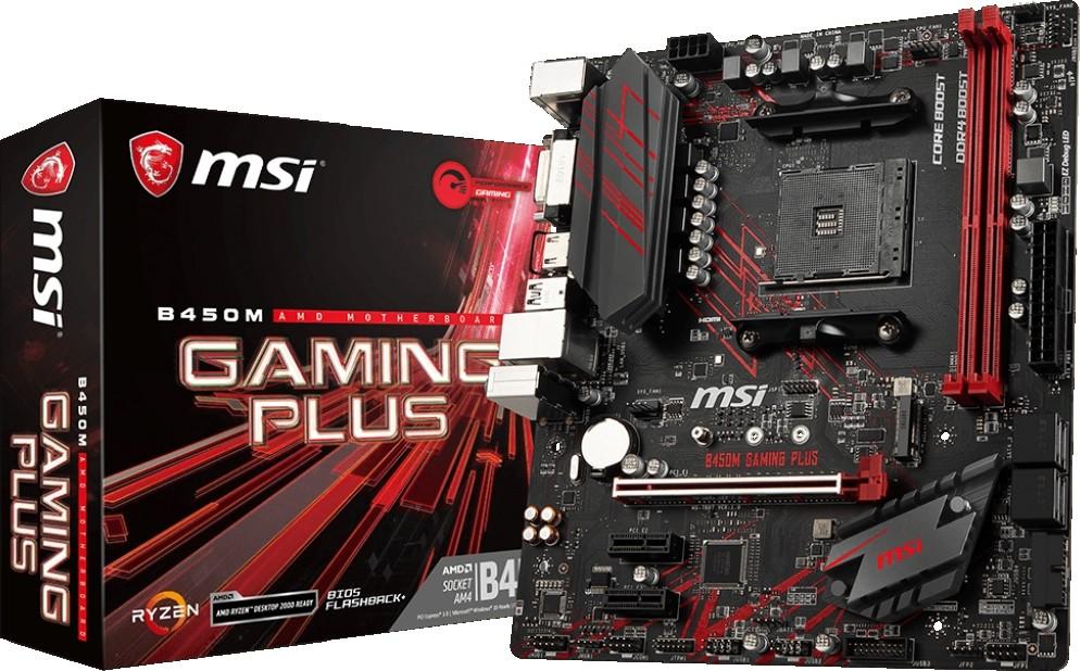MSI B450M Gaming Plus Motherboard AMD Ryzen 1st and 2nd Generation Ryz