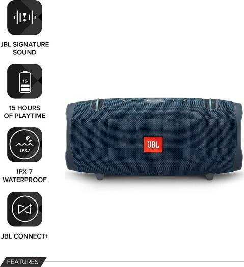 JBL Xtreme 2 Portable Waterproof Wireless Bluetooth Speaker - Ocean Blue | XTREME2-BL