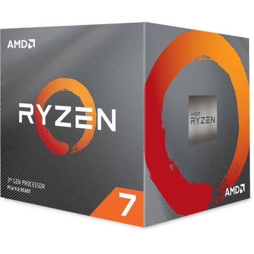 AMD Ryzen 7 3700X 3rd Gen, AM4, Zen 2, 8 Core, 16 Thread, 3.6GHz, 4.4GHz Turbo, 32MB L3, PCIe 4.0, 65W, CPU, with Wraith Prism | 100-100000071BOX