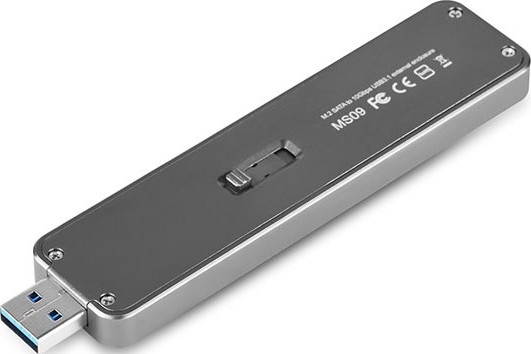 SilverStone Mobile Series Silver M 2 SATA External SSD Enclosure, USB 3 1  Gen 2 interface up to 10Gb