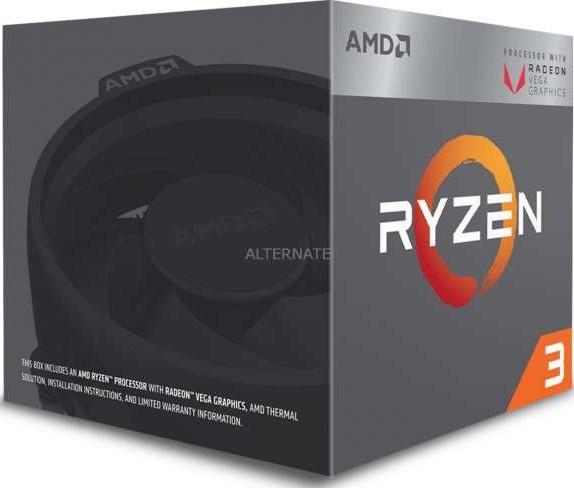 Amd Ryzen 3 2200g Quad Core 3 5 Ghz 3 7 Ghz Turbo Socket Am4 65w