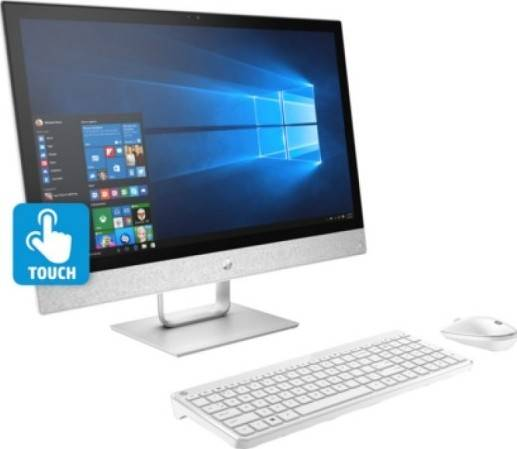 """HP All-In-One 24-r002ne (i7-7700T 2.9GHz, 12GB RAM, 2TB HDD, DVD±RW, 23.8"""" Full HD - Touch, WiFi, Camera, 2GB AMD Graphics, Keyboard and Mouse, Windows 10) - White 