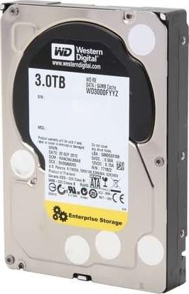 Western Digital RE 3TB Enterprise Hard Drive WD 7200 RPM SATA WD3000FYYZ Gold