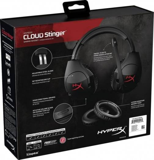 HyperX Cloud Stinger Gaming Headset for PC, Xbox One, PS4, Wii U | HX-HSCS-BK/EE