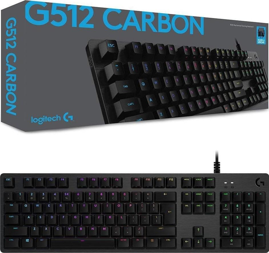 60bd62d3d6c Logitech G512 Carbon LightSync RGB Mechanical Gaming Keyboard - Linear  Switch | 920-008750