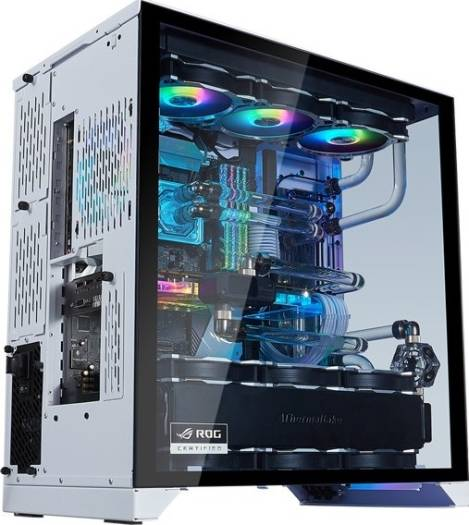 LIAN LI O11 Dynamic XL ROG certificated, White color, Tempered Glass on the Front, and Left Side, E-ATX, ATX Full Tower Gaming Computer Case | PC-O11 Dynamic-XL-ROG White