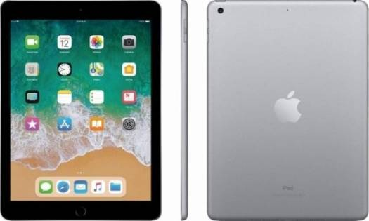 "Apple iPad 9.7"" 6th Generation WiFi + Cellular 128GB,  iOS 10 , A10X processor, Space Gray 
