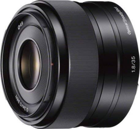 Sony 35 mm f/1.8 Prime Fixed Lens, Black  | SEL35F18