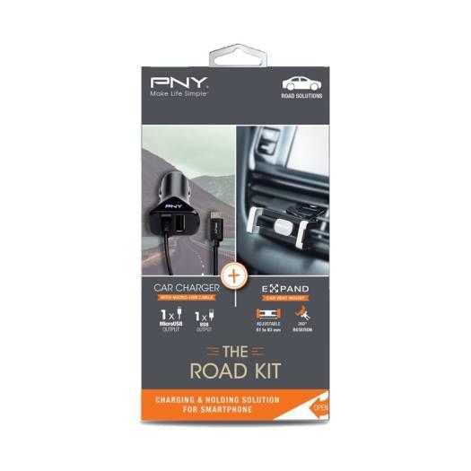 Pny The Road Kit Exp Car Vent Mount Car Charger Kit