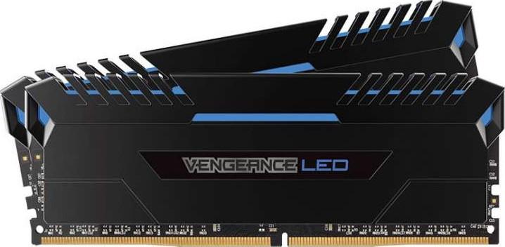 Corsair Vengeance 16GB (2x8GB) DDR4 3200MHz C16 Memory Blue LED | CMU