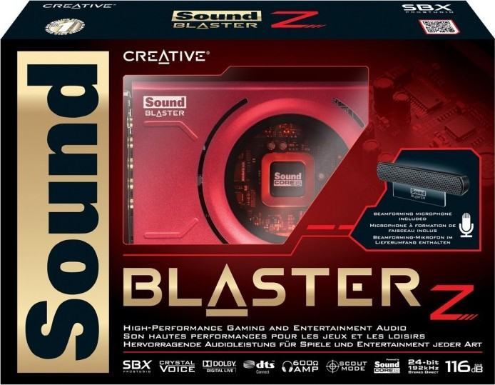 Sound Blaster Z PCIe Gaming Sound Card with High Performance Headphone Amp  and Beam Forming Micropho