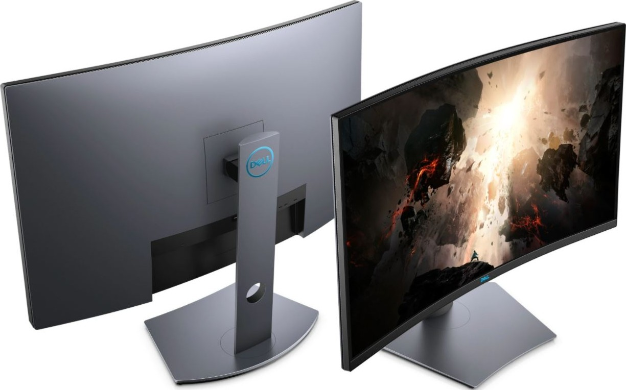 Dell S10DGF 10 inch Curved Gaming Monitor, No flicker, Less blue light,  Anti reflective surface, V