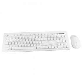 Genuine Wireless Desktop Keyboard Mouse Combo White GN KM232W