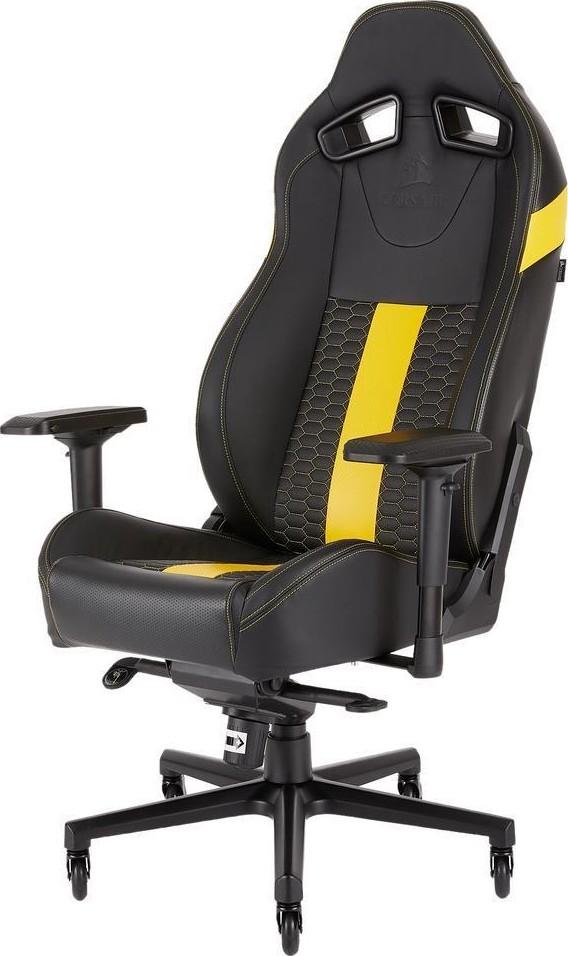 Corsair T2 Road Warrior Gaming Chair Yellow Cf 9010010